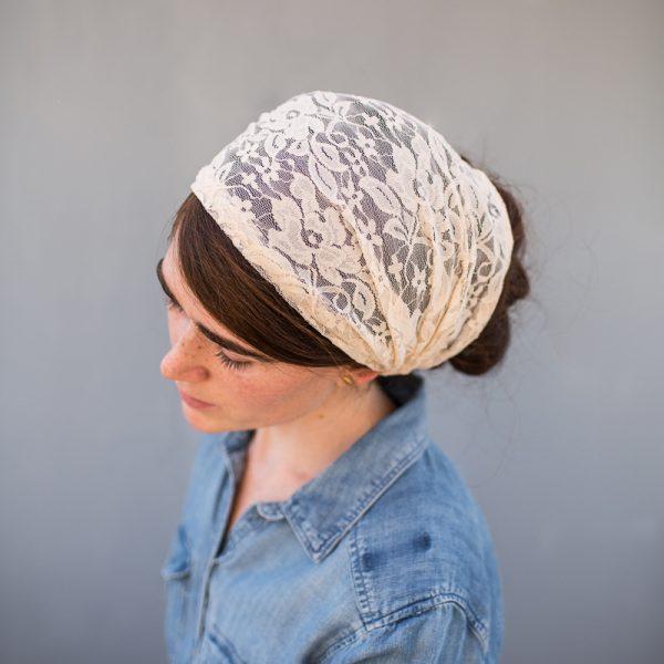 Lace Headcovering headband headwrap Alopecia